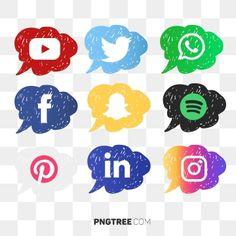 Instagram Twitter, Youtube Instagram, Logo Design, Icon Design, Splash Vector, Yuo Tube, Black Social Media Icons, Social Media Buttons, Journal Stickers