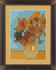 Cross Stitching, Cross Stitch Embroidery, Embroidery Patterns, Modern Cross Stitch Patterns, Cross Stitch Designs, Van Gogh, Macrame Bracelet Patterns, Pixel Drawing, Mini Cross Stitch