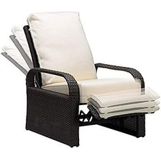 Luxury Patio Recliner Chair Babylon Dualuse IndoorOutdoor Resin     Babylon Dual use Indoor Outdoor Wicker Adjustable Recliner Chair  Patio  Relaxing Lounge Rattan Armchair with Cushions