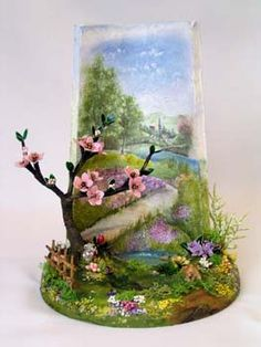 Découpage su tegole Roof Tiles, Ideas Geniales, Painted Cakes, Fused Glass Art, Decoupage Paper, Decorative Tile, Bottle Crafts, Painted Rocks, Diy And Crafts