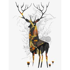 King of the Highlands limited edition screen print by Graham Carter at Soma Gallery, Bristol, UK www.soma.gallery