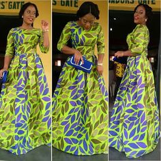 African Print Maxi Gown Dress - The African Clothing African Maxi Dresses, Maxi Gowns, Ankara Dress, African Attire, African Wear, African Women, Gown Dress, Long Dresses, Prom Dress