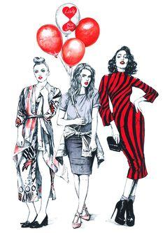 Fashion illustration. Part 9. on Behance