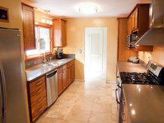 1960's Small Galley Kitchen Remodeled Before And After  Houzz Unique Small Corridor Kitchen Design Ideas Design Inspiration