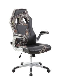 Amazon.com: New High Back Pu Leather Adjustable Swivel Executive Office Desk Task Computer Chair 2 Tone Green Camo: Kitchen & Dining