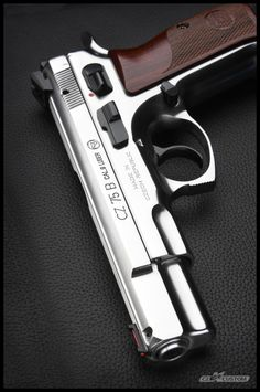 CZ 75 B 9 Stainless Steel Polished Custom Weapons Guns, Guns And Ammo, Rifles, Armas Ninja, Cz 75, Revolver Pistol, Shooting Guns, Custom Guns, Fire Powers