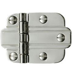 Vintage Art Deco 50's Chrome Ribbed Lines Drawer Cabinet Door ...