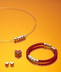 #ARMREIF #MODESCHMUCK #ARMSCHMUCK #HERZ Spring, Abs, Love, Bracelets, Jewelry, Dark Red, Script Logo, Bangle, Letters
