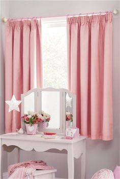Cotton Black Out Pencil Pleat Curtains from Next