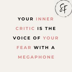 Your inner critic is the voice of your fear. with a megaphone. Here's how to put her on MUTE. Writing Lyrics, Bad Songs, Song Challenge, Self Compassion, Psychology Today, Critic, Growth Mindset, Life Lessons, Are You Happy