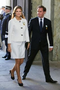 Swedish Princess Madeleine and Chris O'Neill attend a Te Deum thanksgiving service at the Royal Chapel in the Royal Palace, Stockholm, Sweden, 15 Sep 2013 to celebrate the King's 40th anniversary on the throne