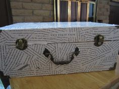 Wedding card box created from Harry Potter and the Goblet of Fire.