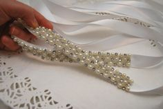 Wedding Belt Bridal Sash Rhinestone Sash & by BridalBlushChampagne
