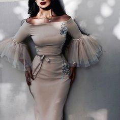 Prepare the betsy and adam prom dresses for the upcoming prom? Then you need to see sexy ruched mermaid prom dresses charming fashion south african celebrity ev Elegant Dresses, Pretty Dresses, Beautiful Dresses, Gorgeous Dress, Look Fashion, Hijab Fashion, Fashion Dresses, Party Fashion, Fashion News