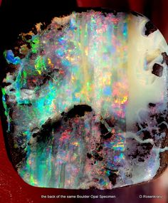 .the.back of the Boulder Opal Specimen from my previous picture