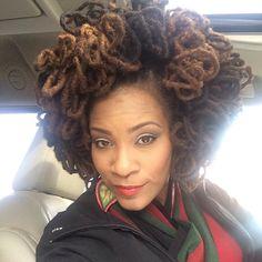 Fabulous afro locs hairstyle on @Keisha Dunston.