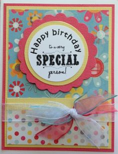Mom and Me Scrapbooking: Happy Birthday Card Kit