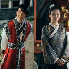Korean Drama, lee J oon Gi , and IU  kdrama image  Moon lovers .wang so and lady court hae soo