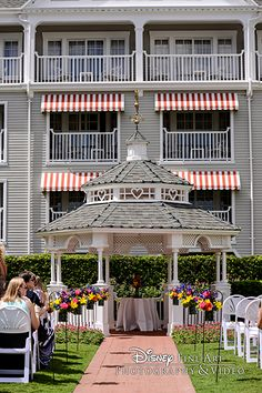 Charming wedding venue gazebo at Disney's Yacht Club Resort