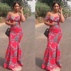 2018 Ankara styles for Big Ladies | Ankara Long Gown Designs | Download latest ankara styles 2018, Asoebi for wedding styles 2018 | African fashion trends