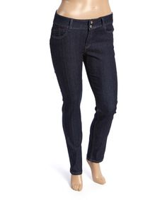 Loving this Black Embroidered-Pocket Skinny Jeans - Plus on #zulily! #zulilyfinds