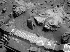 Curiosity Mars Rover Beside Sandstone Target 'Windjana'