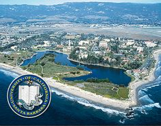UCSB (University of California, Santa Barbara)  Yes, it's right on the Pacific  .