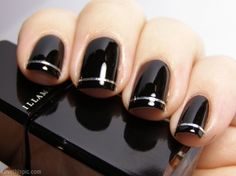 Black & Silver Chic Nails Pictures, Photos, and Images for Facebook, Tumblr, Pinterest, and Twitter