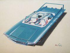 retro_futurism: Concept car sketch by industrial designer Ian Edgar Car Design Sketch, Car Sketch, Design Cars, Auto Design, Industrial Design Sketch, Engin, Car Illustration, Unique Cars, Us Cars