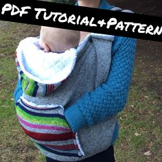 PDF Tutorial and Pattern – Hoodie Baby Carrier Cover – Sewing Projects Baby Sewing Projects, Sewing For Kids, Sewing Hacks, Sewing Crafts, Sewing Ideas, Couture Bb, Baby Hut, Baby Carrier Cover, Easy Baby Blanket