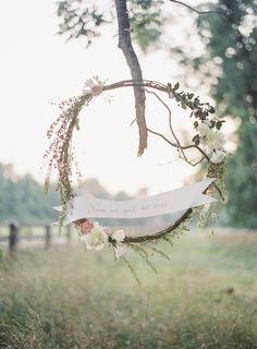 Aisle Style - 20 of the Prettiest Wedding Wreaths - Chic Vintage Brides Wedding Wreaths, Diy Wedding, Rustic Wedding, Wedding Reception, Wedding Flowers, Summer Wedding, Dream Wedding, Wedding Ideas, Pagan Wedding