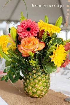 pineapple vase for a luau Moana Birthday Party, Luau Birthday, Hawaiian Birthday, Moana Party, Moana Theme, Birthday Ideas, Happy Birthday, Pineapple Vase, Pineapple Centerpiece