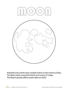 Learn the planets of our solar system with some fact-filled coloring pages. Teaching Kindergarten, Teaching Science, Science Education, Learning Activities, Planet Coloring Pages, Moon Coloring Pages, Nasa Moon, Moon Orbit, Earth And Space Science