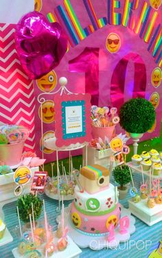 You have to see this amazing emoji birthday party! See more party ideas at CatchMyParty.com!