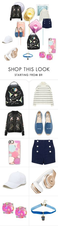 """Just colorful chick"" by niichan021 on Polyvore featuring Love Moschino, Soludos, Casetify, Miss Selfridge, Sole Society, Beats by Dr. Dre, Giani Bernini and Warner Bros."