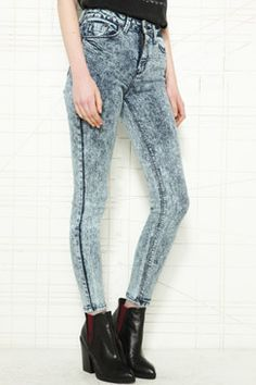 BDG Indigo Acid Wash Cigarette Jeans £50.00 - Clothing at Urban Outfitters