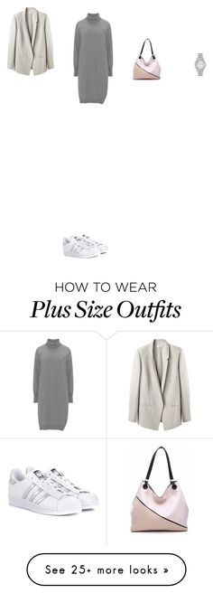 """Untitled #5437"" by anamaria-zgimbau on Polyvore featuring Citizen, Helmut Lang, adidas Originals and MKF Collection Curvy Fashion, Plus Size Fashion, Style Fashion, How To Wear Blazers, Korean Fashion Kpop, Blazer Outfits, Outfit Goals, Office Outfits, Helmut Lang"