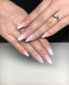 What Christmas manicure to choose for a festive mood - My Nails Cute Acrylic Nails, Pastel Nails, Bride Nails, Wedding Nails, Hair And Nails, My Nails, Peach Nails, Instagram Nails, Nagel Gel