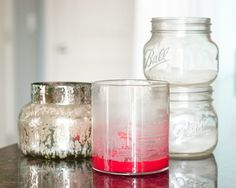 How to remove little bits of wax out of candle jars