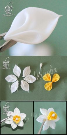 Enchanting Ribbon Embroidery Flowers by Hand Ideas - - Wonderful Ribbon Embroidery Flowers by Hand Ideas. Enchanting Ribbon Embroidery Flowers by Hand Ideas. Ribbon Embroidery Tutorial, Fabric Flower Tutorial, Silk Ribbon Embroidery, Embroidery Kits, Embroidery Designs, Embroidery Stitches, Embroidery Supplies, Embroidery Tattoo, Japanese Embroidery