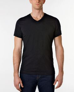 109fcbd735f7 The Essential Black V-Neck T-Shirt