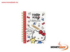 Keep track of your creative ideas with this little Hello Kitty notebook. Made in Japan, this sweet stationery item is wire-bound with Hello Kitty graphics in the inside and outside and an elastic strap to keep your pen in place. It is part of the Hello Kitty Teddy Collection. Save your purchase ticket from Sanrio stores for a quick tax refund with Moneyback! #taxfreeshopping #moneyback  #taxrefund #travelmexico