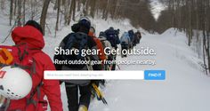 Adventure enthusiasts can now share outdoor equipment through a peer-to-peer network with Gear Commons