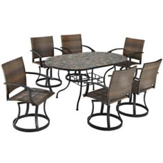 Stone Harbor 7-pc. Outdoor Dining Set with Newport Swivel Chairs  found at @JCPenney