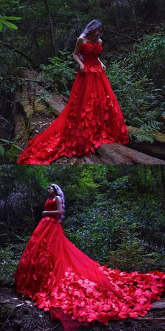 Lady in red. ❤ Blogger @laurencalaway is featuring our amazing cathedral train dress. Get it for $119.99 and use code IML20901 to get a special discount. Click on the pic!