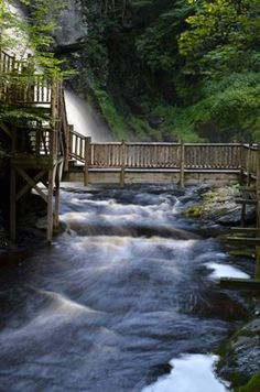Bushkill Falls Pennsylvania The bridges are terrific, get as close as possible & still be safe!