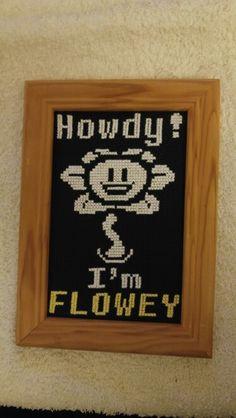 Undertale Flowey cross stitch !