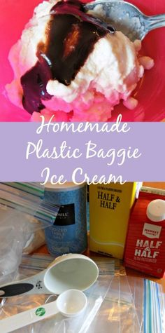Delicious homemade ice cream made with a plastic bag - Nurture Her Nature
