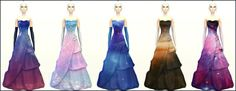Galaxy Wedding Dresses at Xrinnas Sims • Sims 4 Updates