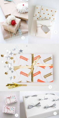 I've compiled a not-so-short list of my favorite recent gift wrap DIY's, products, and inspirations to make sure that your gift is the one everyone is itching to open.